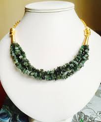 emerald gold necklace images Emerald multi strand necklace emerald and gold necklace unique jpg