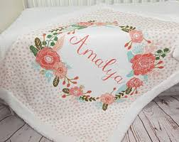 Engraved Blankets Baby Custom Blanket Etsy