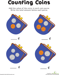 counting coins in the purse worksheet education com