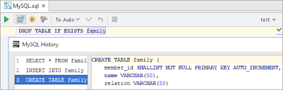 Oracle Drop Table If Exists Writing And Executing Sql Statements Help Intellij Idea