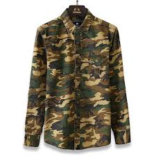 men u0027s casual camouflage shirt men cotton army green tactical