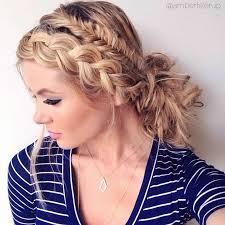 side braided bun hairstyle tutorial peinados pinterest side