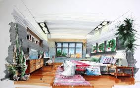interior design sketch interior design bedroom drawing heavenly decoration dining room on