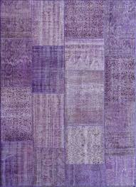 rugsville vintage turkish over dyed patchwork purple passion rug