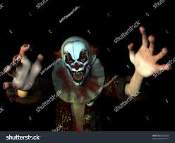 halloween costume background scary clown reaching you isolated on stock illustration 86618209