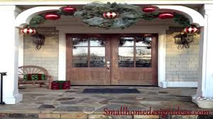 rustic christmas porch and wreaths decorations youtube