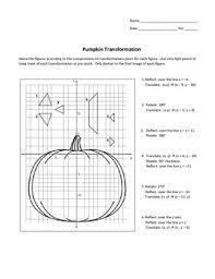 pumpkin transformations for translations reflections rotations