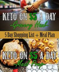 keto on a budget shopping list and meal plan for keto on 5 a