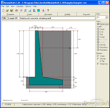 Free Retaining Wall Design Software Marvelous RIB Basic Version - Design of a retaining wall