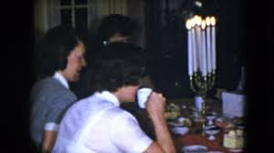 1979 spanish people eating in a large dining room stock video