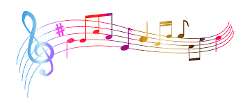 music notes colourful transparent png stickpng
