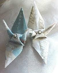 wedding cake topper letters peace crane bird favor