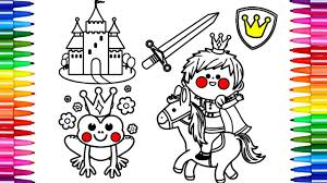 how to color and draw prince coloring pages kids song the