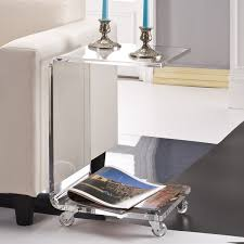 C Shaped End Table Captivating Acrylic Accent Table U2013 Interiorvues