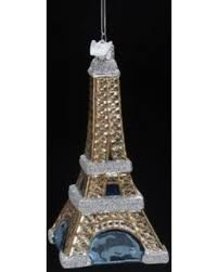 big deal on 5noble gems glass eiffel tower ornament