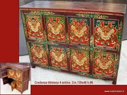 credenza tibetana credenza tibetana dipinta per mobili etnici