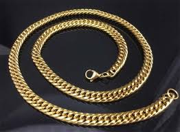 necklace gold man images Gold chain for men hip hop jewelry stainless steel curb chain jpg
