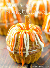 Halloween Bundt Cake Mini Pumpkin Bundt Cake Recipe From Yummiest Food Cookbook
