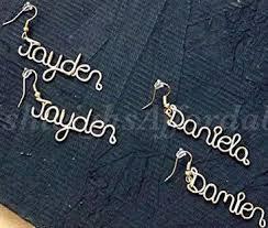 Custom Name Earrings As 25 Melhores Ideias De Name Earrings No Pinterest Jóias Com