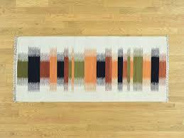 Flat Weave Runner Rugs 2 7 X6 Wool Woven Dazzling Kilim Flat Weave Runner Rug