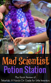 create your own mad scientist potion station handmade kids art