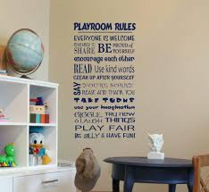 playroom rules subway style kids wall decals written wall decals wall decal for kids sticker01