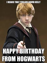 Harry Potter Birthday Meme - that redheaded ugly kid from the harry potter movies cast a spell on