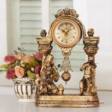 decorative clock lai sheng watches retro classic antique gold clock decorative
