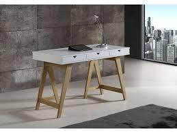 bureau 120 cm bureau 120 cm gaudi coloris blanc chêne pas cher c est sur