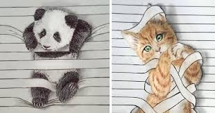 i draw animals that don u0027t want to stay between the lines bored panda
