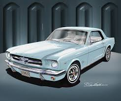 sky blue mustang 1965 1966 mustang prints posters by danny whitfield
