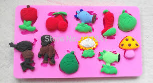 Plants Vs Zombies Cake Decorations Design 478 Plants Vs Zombies Silicone Mold Sugar Mold Chocolate
