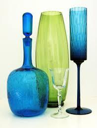 Modern Glass Vase Mid Century Modern Glass At Retro Art Glass