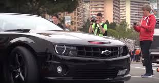 Camaro Ss 2008 Chevrolet Camaro Ss With Knight Rider Led Bar Plays Kitt In Monaco