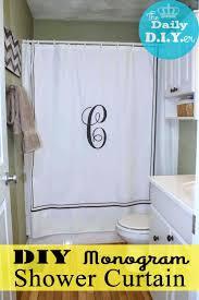best 25 monogram shower curtains ideas on pinterest monogram the daily diyer monogramed shower curtain