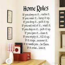 famous quote wall stickers home rules wall sticker quotes home