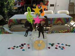 rockstar party cd centerpieces my creations pinterest party