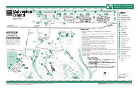 galveston island map galveston island state park facility and trail map