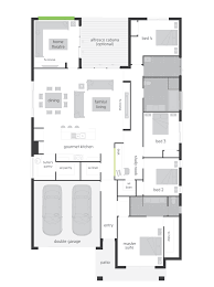 Floor Plan Of 4 Bedroom House Floor Plan Friday 4 Bedroom With Theatre Study Nook Butler U0027s