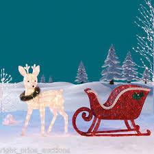 reindeer sleigh 260 led lights indoor outdoor garden