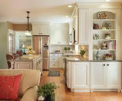 kitchen corner kitchen transitional with living room subway mosaic