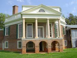 image result for greek revival columns on a colonial brick home