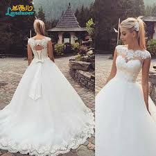 vintage lace a line wedding dresses 2016 free ship country style