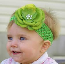 infant hair baby hair bow flower lime green flower hair bow newborn