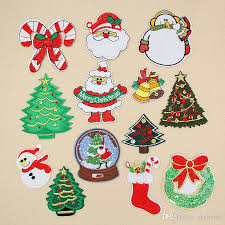 embroidered christmas 2018 embroidered christmas patches iron on patch tree patch for