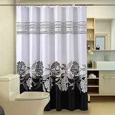 black and white shower stall curtains amazon com