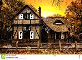 dutch country house sunset stock photo image 80810513