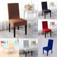 elegant jacquard fabric solid color stretch chair seat cover