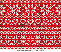 winter holiday seamless knitted pattern christmas stock vector