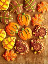121 best thanksgiving cookies images on fall cookies